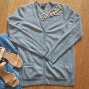 Light Gray Talbots Cashmere Cardigan